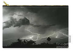 Carry-all Pouch featuring the photograph Caution Signs by J L Woody Wooden