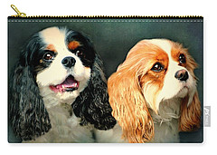 Cavalier King Charles Carry-all Pouch by Diana Angstadt
