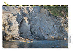 Carry-all Pouch featuring the photograph Cave By The Sea by George Katechis