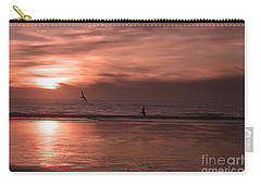 Cayucos Beach With Seagulls Carry-all Pouch