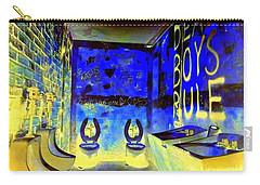 Cbgb's Notorious Mens Room Carry-all Pouch by Ed Weidman