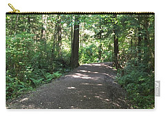 Carry-all Pouch featuring the photograph Cedar Shadow Steps by Kim Prowse