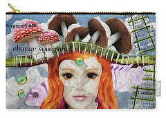Carry-all Pouch featuring the digital art Celebrate Who You Are by Barbara Orenya