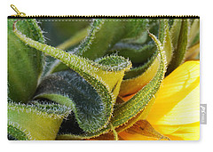 Carry-all Pouch featuring the photograph Celebration Sunflower by Wendy Wilton