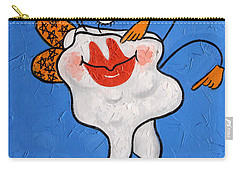 Carry-all Pouch featuring the painting Celebrity Tooth Implant Dental Art By Anthony Falbo by Anthony Falbo