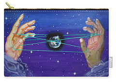 Carry-all Pouch featuring the painting Celestial Cats Cradle by Thomas J Herring