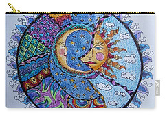 Carry-all Pouch featuring the drawing Celestial Tangle by Megan Walsh