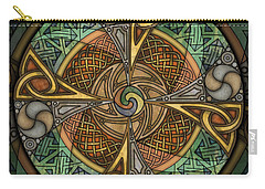 Celtic Aperture Mandala Carry-all Pouch by Kristen Fox