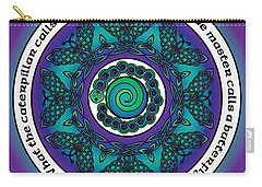 Celtic Butterfly Mandala Carry-all Pouch