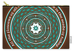 Celtic Lotus Mandala Carry-all Pouch