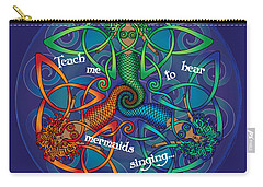 Celtic Mermaid Mandala Carry-all Pouch