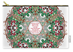 Celtic Winter Fairy Mandala Carry-all Pouch