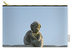 Carry-all Pouch featuring the photograph Cemetery Cherub by Joseph Baril