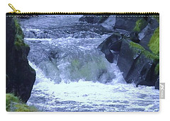 Carry-all Pouch featuring the photograph Cenarth Falls by John Williams