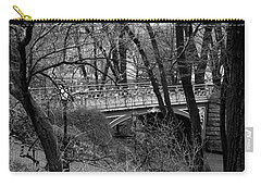 Central Park 2 Black And White Carry-all Pouch by Chris Thomas