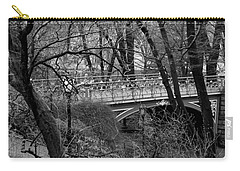 Central Park 2.1 Black And White Carry-all Pouch by Chris Thomas