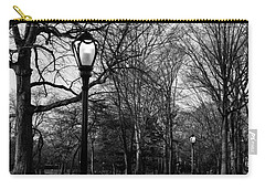 Central Park Streetlamps In Black And White 2 Carry-all Pouch