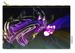 Carry-all Pouch featuring the digital art Cerebral Backlash by Richard Thomas