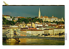 Carry-all Pouch featuring the photograph Chain Bridge Budapest by Ira Shander