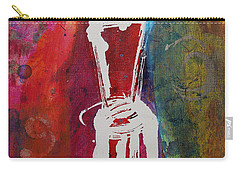 Carry-all Pouch featuring the painting Chair by Robin Maria Pedrero