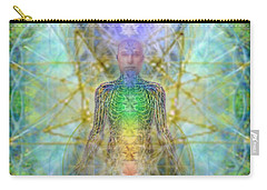 Chakra Tree Anatomy With Mercaba In Chalice Garden Carry-all Pouch
