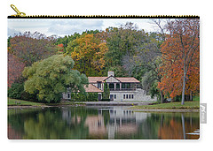 Chalet On The Lagoon Carry-all Pouch by Susan  McMenamin