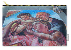 Chalk Painting By Street Artist Carry-all Pouch