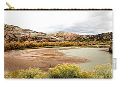 Carry-all Pouch featuring the photograph Chama River Swim Spot by Roselynne Broussard