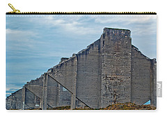 Carry-all Pouch featuring the photograph Chambers Bay Architectural Ruins by Tikvah's Hope
