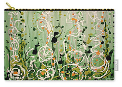Carry-all Pouch featuring the painting Champagne Symphony by Holly Carmichael