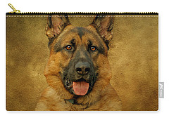 Chance - German Shepherd Carry-all Pouch by Sandy Keeton