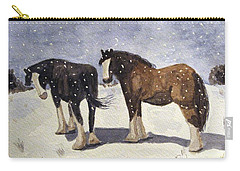 Carry-all Pouch featuring the painting Chance Of Flurries by Angela Davies