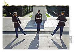 Carry-all Pouch featuring the photograph Changing Of The Guard by Cora Wandel