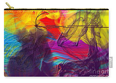 Carry-all Pouch featuring the digital art Chaos by Clayton Bruster