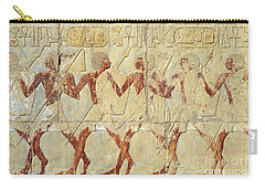 Chapel Of Hathor Hatshepsut Nubian Procession Soldiers - Digital Image -fine Art Print-ancient Egypt Carry-all Pouch
