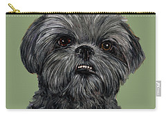 Charcoal Shih Tzu  Carry-all Pouch
