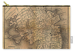 Charleston Vintage Map No. I Carry-all Pouch by James Christopher Hill