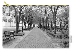 Charleston Waterfront Park Walkway - Black And White Carry-all Pouch