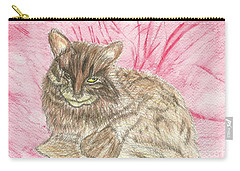 Carry-all Pouch featuring the painting Charlie by Tracey Williams