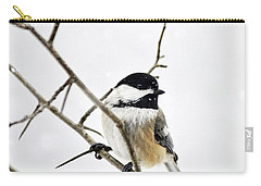 Charming Winter Chickadee Carry-all Pouch