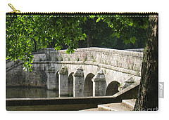 Chateau Chambord Bridge Carry-all Pouch by HEVi FineArt