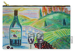 Carry-all Pouch featuring the painting Chateau Wine by Diane Pape