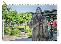 Carry-all Pouch featuring the photograph Chattanooga Choo Choo Court Yard by Susan  McMenamin