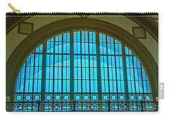 Carry-all Pouch featuring the photograph Chattanooga Train Depot Stained Glass Window by Susan  McMenamin