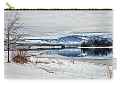 Chatuge Dam Winter Vista Carry-all Pouch by Kenny Francis