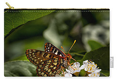 Checkerspot Sipping Nectar Carry-all Pouch