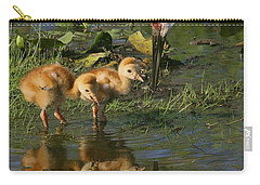 Checking On The Babies Carry-all Pouch by Myrna Bradshaw