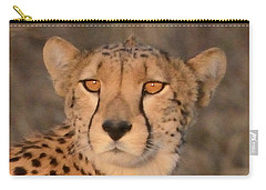 Cheetah Gaze At Sunset Carry-all Pouch