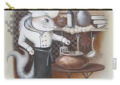 Carry-all Pouch featuring the painting Chef by Marina Gnetetsky