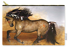 Carry-all Pouch featuring the painting Cherokee by Valerie Anne Kelly
